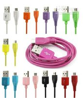 Wholesale 200pcs Colorful Micro USB data sync cable charger cable for HTC Rader Amaze G Sensation XL LG