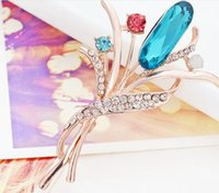 beauty ball pins - Teemi New Hot Fashion Chic Love Gift Like Beauty Flower AAA Cubic Zircon Brooch Pins Bridal Jewelry for Women Party Wedding