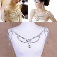 beading designs necklaces - Stunning Cheap Shoulder Chain Hot Sale Fashion Noble Crystal Bridal Necklace Temperament Beading Wedding Accessories New Design