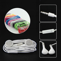 For Apple iPhone apples candy - Stereo Earphones candy Color Headset Earbuds with Mic for iphone s s s Ipod samsung s3 s4 s5 s6 Note Note HTC high quality