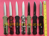 Wholesale TOP Quality BM Double edge spear point blade D2 Blade Single edge Drop point Christmas gift camping knife knives