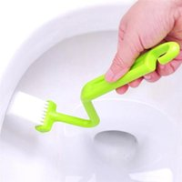 Wholesale New Arrivals Toilet Dead Angle Cleaning Brushes Curved Handle Multifunction Creative Plastic CM JB4