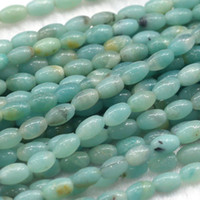 amazonite jewelry - Discount Natural Genuine Green Blue Amazonite Rice Shape Oval Loose Beads mm Fit Jewelry DIY Necklace or Bracelets quot