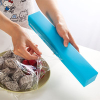 Wholesale 3 colors Plastic wrap box Cling Film Stainless Steel Cutte Kitchen Tool