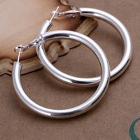 Wholesale Brand new sterling silver MM soramimi ring DFMSE149 women s silver Dangle Chandelier earrings pairs a