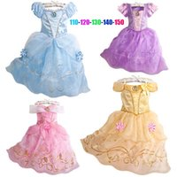 belle stores - in store Cinderella Tangled Rapunzel Aurora Princess Beauty and the Beast Belle Princess baby girl cute dress for parties