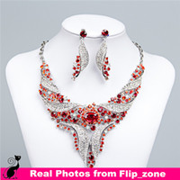 jewellery for sale - Hot Sale Rhinestones African Costume Bridal Jewelry for Bride Party Wedding Jewellery Sets Necklace Diamond Bridal Accessories Cheap