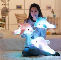 baby pink dolphins - New Arrival Music Shining Dolphin Plush Toys Kawaii Cute Lovely Stuffed Toys Baby Toy Kids Toy Gift