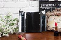Wholesale Three Way foldable Pocket LED makeup mirror