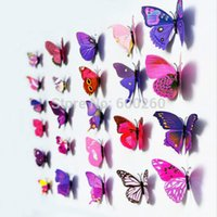 Wholesale 12pcs D Butterfly Sticker Art Wall Mural Door Decals Home Decor Room New