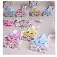 baby carriage brands - Wedding Favor Bomboniere Shower Baby Day Out Baby Carriage Candy Box Brand New Good Quality