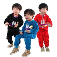 suits for 4 year old boys - 2015 spring and autumn new velvet red blue black trichromatic sports suit for boys and girls years old children s clothes
