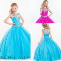 Reference Images Girl Beads Allen Little Girls Pageant Dresses For Girls Gowns 2015 Toddler Vintage Kids Ball Gown Blue Floor Length Flower Girl Dress For Weddings