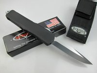 Wholesale Microtech knives classics A07 Double Action Troodon Combat Knife single edge full blade zinc aluminium alloy handle Tactical survival knife