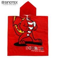 Wholesale Children s Hoodie cm Cotton Towel Hooded Towel Printed Pattern Bath Towel Beach Towel Cloak for Kids