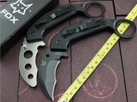 fox boxes - Fox Knives Karambit Folding Knife CR13MOV Outdoor Tops Knife EDC Pocket Tool HUnting Tactical Knives Original box Timed promotions
