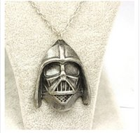 american war helmets - European and American Movie Star Wars Darth Vader helmet surrounding jewelry necklace new style