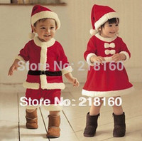 Wholesale High Quality Years Girl Boy Santa Suit Novelty Costume Baby Christmas Clothing Sets