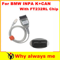 Wholesale 2015 Newest BMW Inpa K D can with FT232RL Chip Diagnostic Cable BMW OBD to USB interface INPA Ediabas for BMW with freeshipping