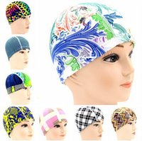 Wholesale Popular best selling colors cloth many swim caps swimming Cap waterproof professional men and women with long hair caps