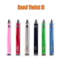 Wholesale EVOD TWIST II VV Battery V V mah evod twist variable voltage electronic cigarette battery vs evod twist battery