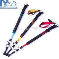 Cheap 1 pc Carbon fiber ultralight climbing sticks nordic trekking hiking poles walking sticks with quick lock