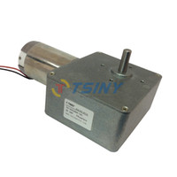 Wholesale DC V rpm kg cm High Torque Worm Reducer Motor With Gearbox Geared Motor
