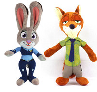 Wholesale Prettybaby zootopia figures plush dolls cm Bunny Judy Fox Nick model animal stuffed doll toys kids gift Pt0267