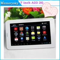 PC 7inch phablet Allwinner A23 2G GSM Phone Tablet avec Sim Card Slot 512M + 4G Bluetooth double caméra Android 4.2 Dual Core GSM comprimés 002396