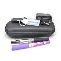 Venta al por mayor - precio de fábrica CE4 atomizador EGO-T cigarrillos electrónicos doble kits 650mah 900mah 1100mah batería en la cremallera caso mechas largas pared
