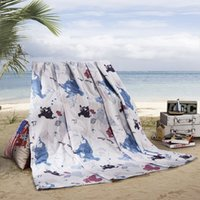 Wholesale US Stock LOVO Hawaii Beach Cotton Fabric Quilted Bedspread Coverlet Throw Super Soft All season
