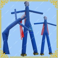 advertising inflatable man - Inflatable Super man Air Dancer Sky Dancer with Free Blowers Advertising Sky Dancer for Events