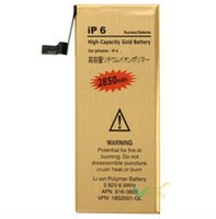 Wholesale 2850mAh Rechargeable Gold Li ion Polymer Battery Replacement For iPhone iP G inch V Batterie Batterij Bateria