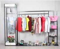 Wholesale High end clothing store display racks wrought iron shoe bag landed in the island shelf clothing store for men and women