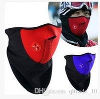 Wholesale 5000pcs CCA2747 Motorcycle Armor Neoprene Snowboard Ski Cycling Face Mask Neck Warmer Bike Bicyle mask WindProof Mask Motor Protective Mask