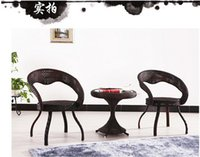 Wholesale Cany chair three piece tea table balcony chairs cafe tables and chairs