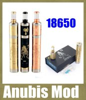 Wholesale e cigarette mod mechanical mod kit anubis mod with anubis vaporizer black brass copper mod fit VS w box mod cloupor mini TZ225