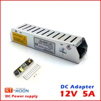Cheap 5pcs 12V 5A Led Power Supply Adapter for Led Strip DIY 60W AC to DC Transformer Free Shipping Brand New Whole and Retail