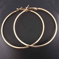 Wholesale 2015 Fashion women hot big mm silver gold HOOP earrings bijoux femme women brinco E358