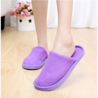 Wholesale 20 PC EVA Shoe Pad Soft Five Color In Stock For Woman And Man House Shoes Fast Shipping Lowest Price Spa Slipper Coral Velvet Solid Color