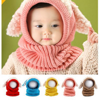 baby girl dog - Kids Baby Hand Knitted Hat Children Lovely Dog Design Hat For Mos T Years Kids Keep Warm Kids Crochet Hat Five Colors Choosen PX9811