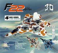 Wholesale Freeshipping Cheerson F22 Fighter F G CH Axis Gyro D Flip RC Quadcopter Toys For Kids Gift