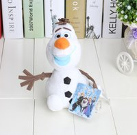 Wholesale 10PCS quot About CM Brand New cartoon movie Frozen Lovely OLAF plush toys the Snowman Plush Doll Stuffed Toy