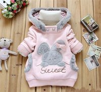 rabbit coat - Children Clothing Cartoon Rabbit Fleece Sweatshirts Outerwear girl fashion clothes hoodies jacket Winter Coat roupa infantil