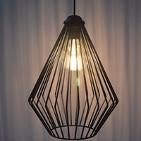 Wholesale Vintage Iron lampshade diamond section LED decorative lights create a romantic atmosphere suitable for restaurants and bars cafes tea