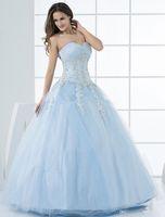 dress blue grace - Grace Light Sky Blue Ball Gown Sweetheart Quinceanera Dress Beaded Appliques Birthday Ball Gowns