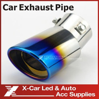 Wholesale New Arrival Stainless Steel Exhaust Pipe Muffler Tail Pipe Auto Muffler Tail Throat Car End Pipes Roast Blue