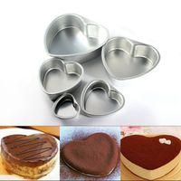 aluminum cupcake pans - 5pcs New Aluminum Alloy Heart Shape Muffin Cake Pans Cupcake Baking Mold Pastry Decorating Tool