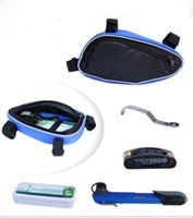 Wholesale Hot Sale colors Cycling Bike Repair Tool Bag Multi function Mini Pump Folding tools Bicycle maintenance package workbag