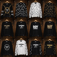 big men sweaters - 2015 New BOY LONDON chain eagle men s Long sleeve big bang Outerwear Classic gold stamp hoodies hoody Sweaters brand tag label Colors
